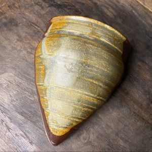 Pair of Signed, Glazed, Ceramic Wall Vases/Pockets